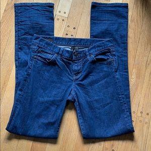 Club Monaco Straight Leg Dark Wash Jeans